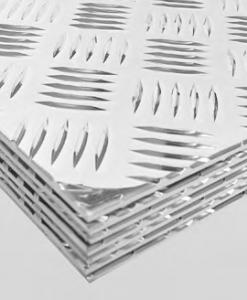 Alumínium bordás (quintett) lemezek