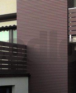 Fa hatású kerítés WPC